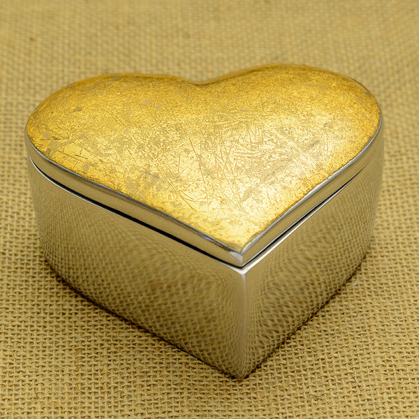 Gold Heart Box