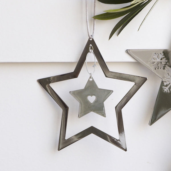 Hanging Silver Star
