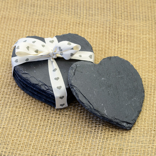 Heart Shaped Slate Coasters