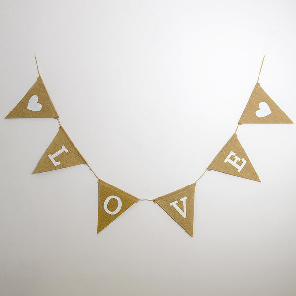 Love Heart Hessian Bunting