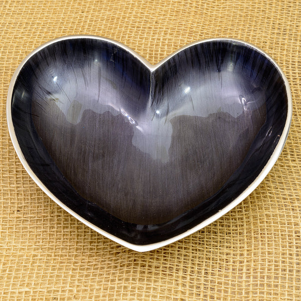 Midnight Blue Heart Dish