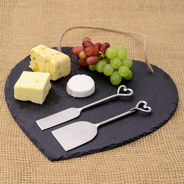 Set of 2 Heart Cheese Knives