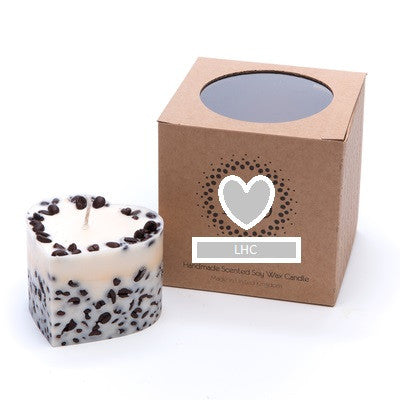 Heart Shaped Scented Candle- Coffee Bean & Vanilla