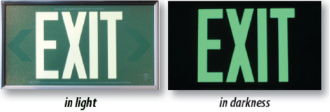 EXIT sign side by side