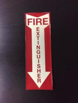 Illuminating Fire Extinguisher Adhesive Label