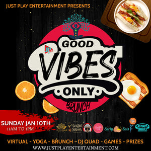 We're playing Self-Care Charades at the  Virtual Good Vibes Only Brunch!