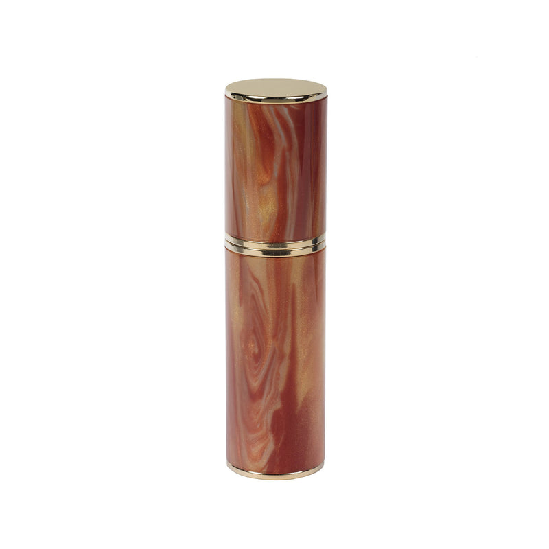 AMBER ACRYLIC RESIN PURSE ATOMIZER WITH SHADES