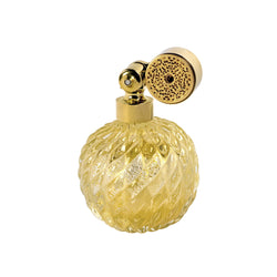 GOLD PLATED ESCALE MOUNT, CLEAR MURANO GLASS, INSERTED GOLD LEAF