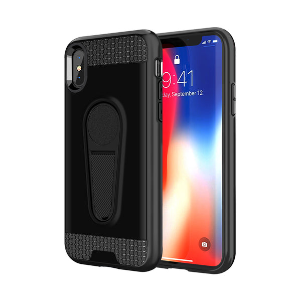 Navor Slim Fit Protective Soft 360 Degree Rotating Magnetic Case With kick stand for iPhone X