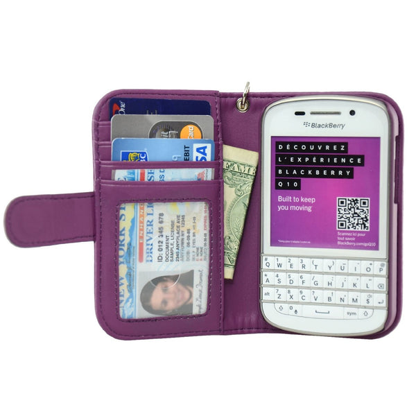 Blackberry Q10 Wallet Case - Navor