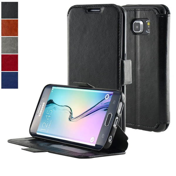 Samsung Galaxy S6 Edge Ultra Slim Wallet Case - Navor