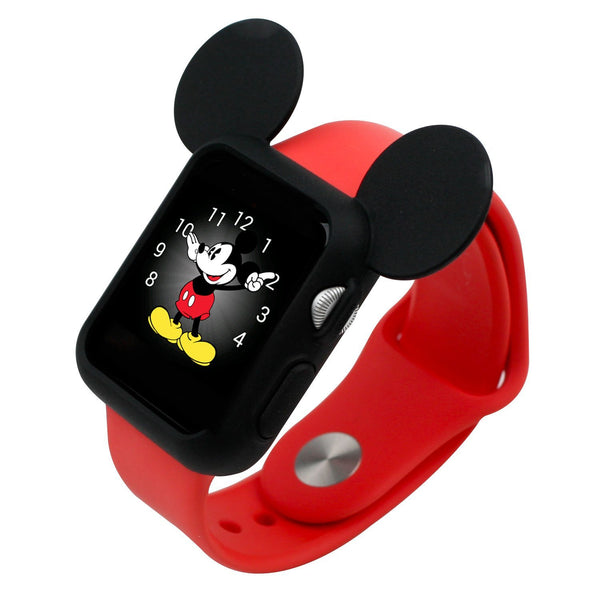 Navor Soft Silicone Protective Case for Cartoon Mouse Ears Compatible with Apple Watch