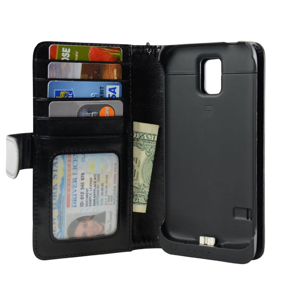 Samsung Galaxy S5 Wallet Power Battery Case 3200 mAh - Navor