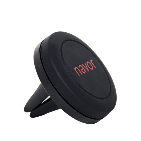 Navor Universal Air Vent Magnetic Car Mount Holder for Cell Phones and Mini Tablets - Black
