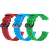 3Pcs Water Resistant Replacement Wristbands Bands for Fitbit Charge 3 - Red/Blue/Green