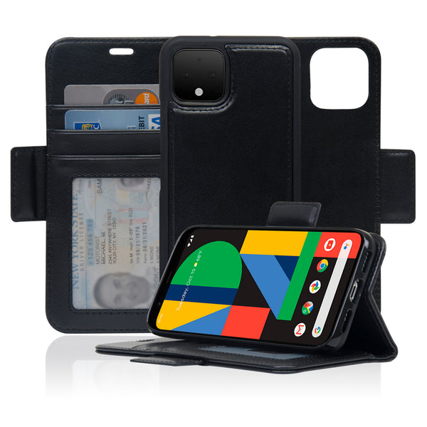 Navor Detachable Magnetic Wallet Case Compatible with Google Pixel 4 [RFID Protection] [Logo Hole] [Vajio Series]