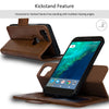 NAVOR Car Mount and Detachable Magnetic Wallet Case for Google Pixel 2 [RFID Protection] [Logo Hole] [Vajio Series]