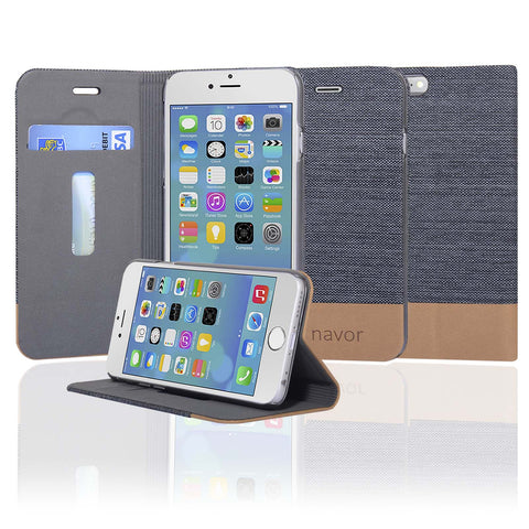 Navor Protective Cover Wallet Case with Ultra Slim and Thin Design for iPhone 6/6S[4.7 Inch]-IP6G17