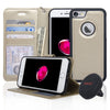 Navor Car Mount and Wallet Case with Magnetic Detachable Cover for iPhone 7 & 8 Kit