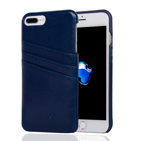 NAVOR Indus Series Premium Wallet Case for iPhone 7 Plus & 8 Plus - Navy Blue