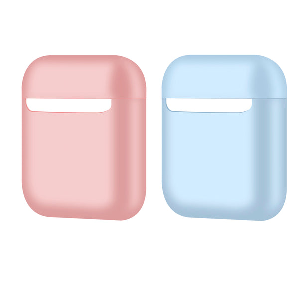 2 Colors - Protective Airpods Case [2 pcs] Shock Proof Soft Skin for Airpods Charging Case - KIT4
