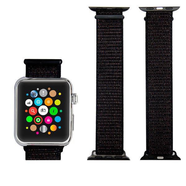 Navor Soft Breathable Woven Nylon Replacement Sport Loop Band for Apple Watch 38mm [Series 1, 2, 3]