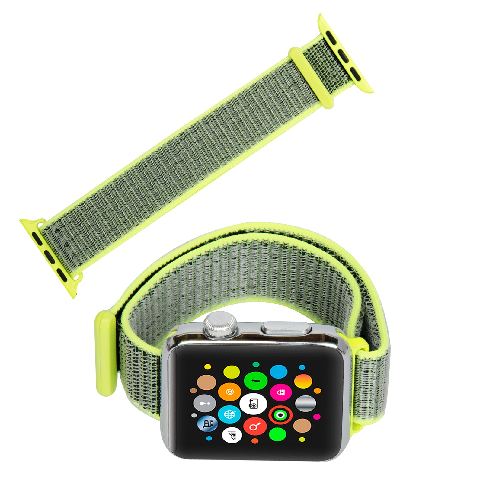 edc7e4e37 ... Navor Soft Breathable Woven Nylon Replacement Sport Loop Band for Apple  Watch Series 3 2 ...