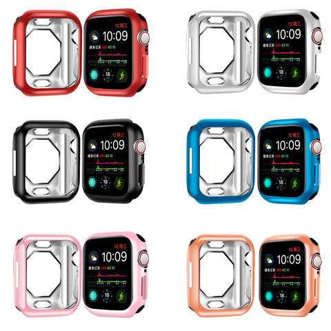 6 Pks Navor Scratch-Resistant and Shock-Proof Soft TPU Cover Case for Apple Watch Series 4/ Series 5