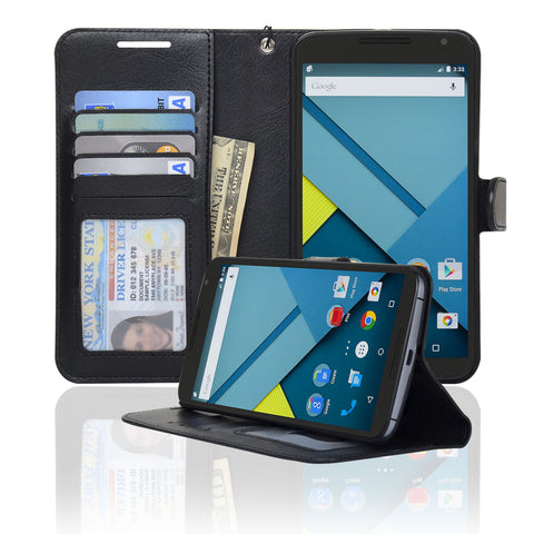 Google Nexus 6 Wallet Case - Navor