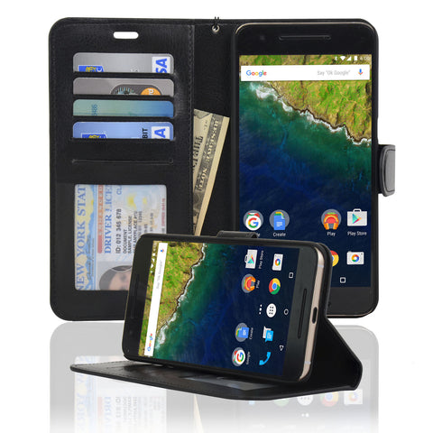 Navor Protective Flip Wallet Case for Huawei Nexus 6P