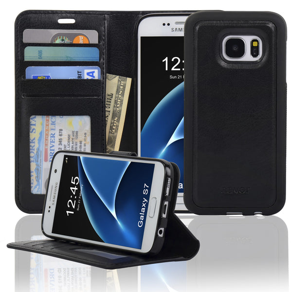 Navor JOOT1 Series Samsung S7 Wallet Case with Magnetic Detachable Cover