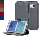 Navor Samsung Galaxy S6 Edge Ultra Slim Wallet Case - Gray