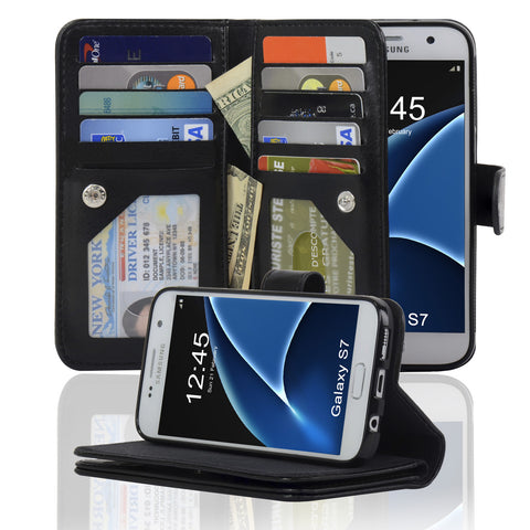 Navor JOOT3 Series Samsung Galaxy S7 Wallet Case with Detachable Magnetic Cover