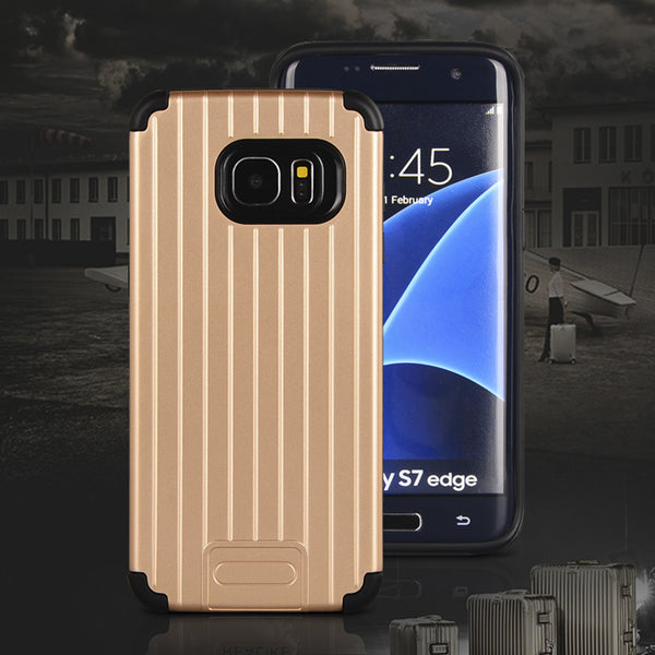 NAVOR Kario Groove Dual Layer Hybrid Protective Case for Samsung Galaxy S7 Edge