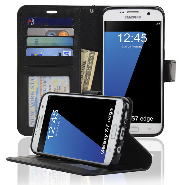 Navor Protective Flip Wallet Case for Samsung Galaxy S7 Edge