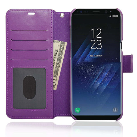 NAVOR Zevo Samsung Galaxy S8 Plus Wallet Case Slim Fit Light Premium Flip Cover with RFID Protection