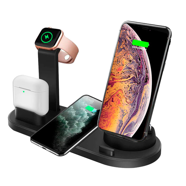 Multi-Function 4 in 1 Fast Magnetic Wireless Charging Stand & Charging Pad Compatible with Apple Watch/Airpods/iPhone /Samsung and Other Qi Phones