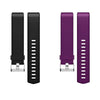 2Pks Soft TPU Silicone Replacement Sport Band Fitness Strap Compatible for Fitbit Charge2