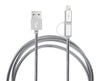 Navor 3FT 2 In 1 Lightning And Micro USB Data Sync Cable Charging Cord for iPhone7, 6Plus, 5s, Ipad, Sumsung and Other Android Phones