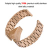 Solid Stainless Steel Watch Bracelet Strap Replacement Band Compatible for Fitbit Versa Smartwatch
