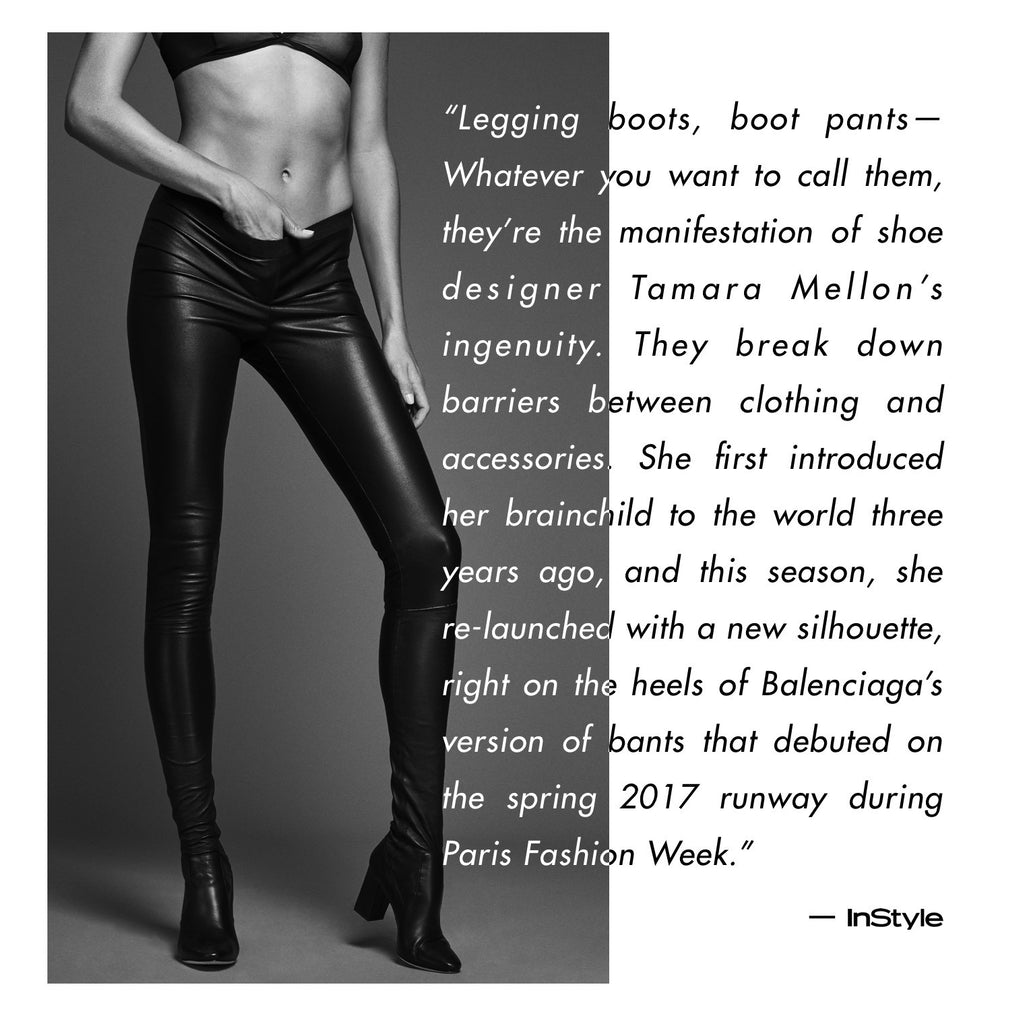 Tamara Mellon Legging Boots - Sweet Revenge - InStyle article about boot pant trend