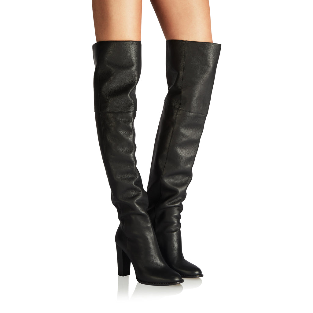 Prediction Black Vitello Thigh High Boots from Tamara Mellon