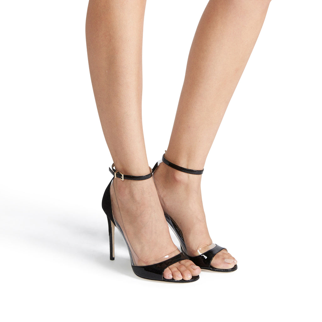 Tamara Mellon Flavin High-Heel Ankle-Strap Sandals In Black