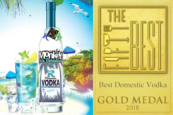 Monkey In Paradise Vodka Wins BEST DOMESTIC VODKA!