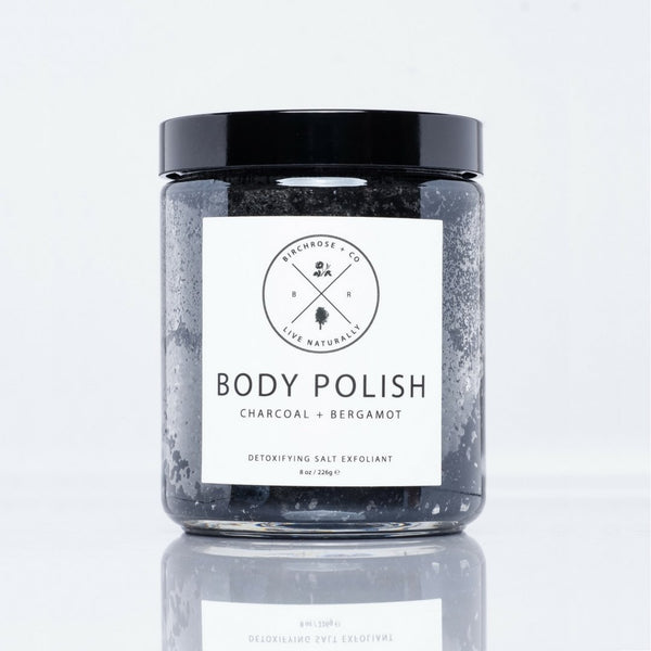 Body Polish - Charcoal + Bergamot - Birchrose + Co | Vegan Concept Hong Kong