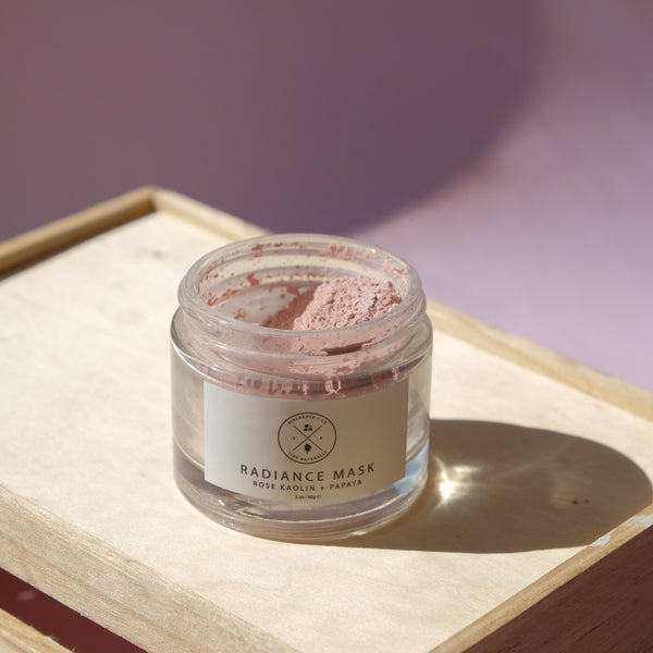 Radiance Mask - Rose Kaolin + Papaya (To be opened by 1 Aug 2020) - Birchrose + Co | Vegan Concept Hong Kong