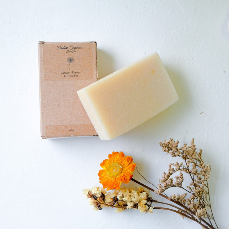 Timeless Enzyme Bar Soap - Mango + Papaya - Vegan Concept