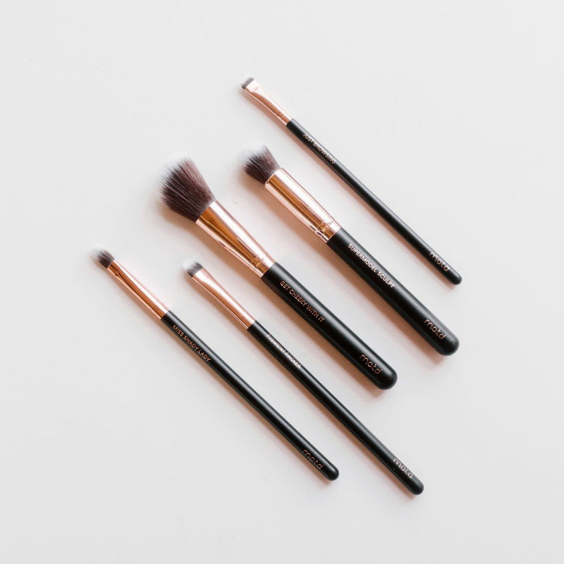 Fierce Five Face Eye Makeup Brush Set - Vegan Concept
