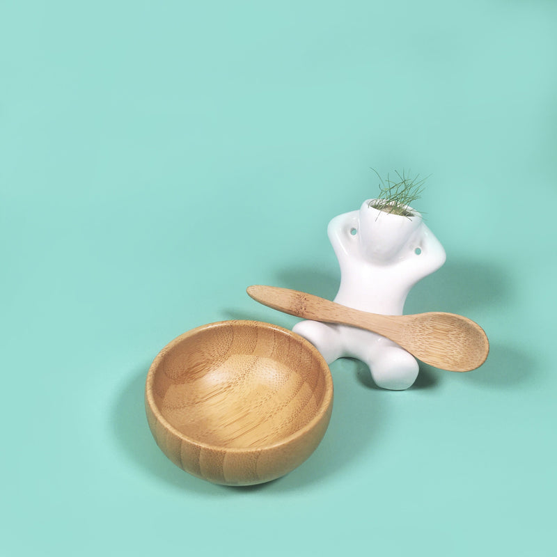 Eco-Friendly Bamboo Bowl Set - Vegan Concept