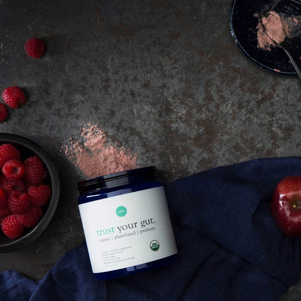 Organic Probiotics with Prebiotics Powder - Apple Raspberry - Vegan Concept